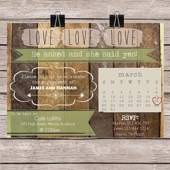 Engagement Party Invitation  Personalized for by FaithandWhimsy, $15.00