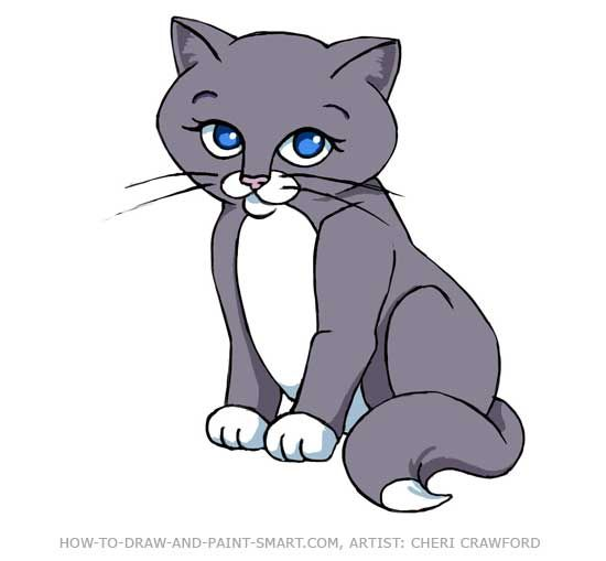 how to draw cat picture