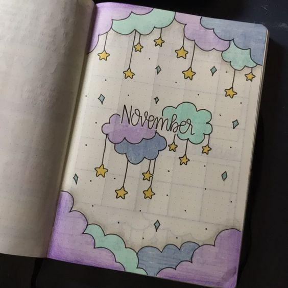 35 schöne und charmante Bujo November-Ideen für Ihr Raketentagebuch