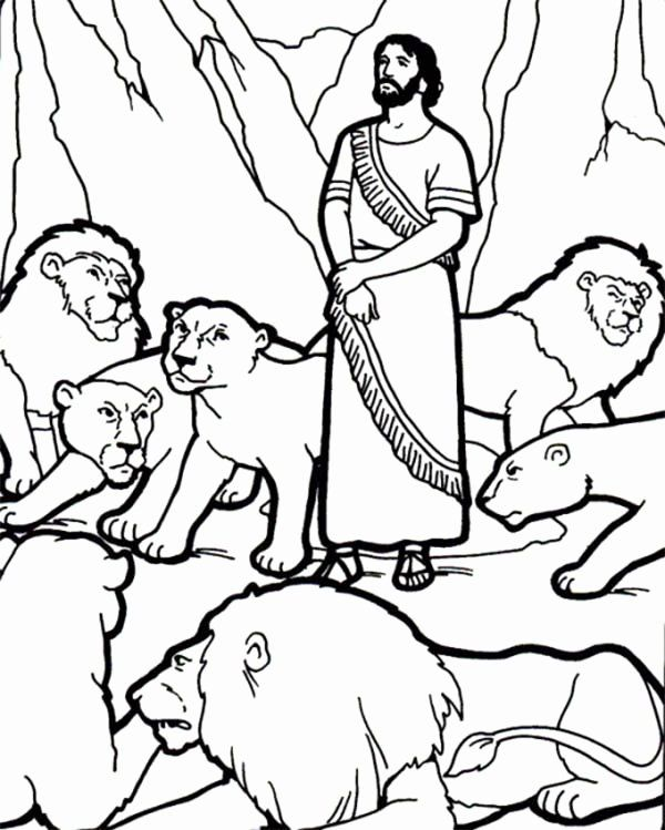 32 Daniel In The Lion S Den Coloring Page In 2020 Daniel And