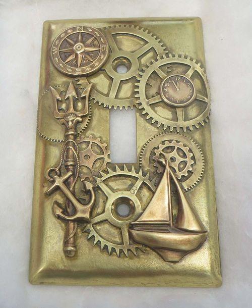 Steampunk Nautical Light Switch Plate Nautical Living