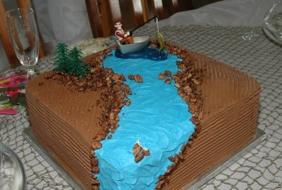 Fly Fishing Groom's cake.. just change a few details