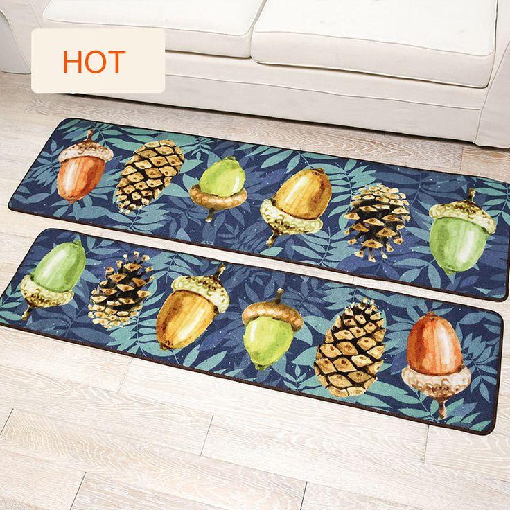 Blue Mushroom/6 Nuts Pattern Mediterranean Doormat Rug and Carpet For  Living Room Bedroom Bath Antiskid Foot Mat Kitchen Mats