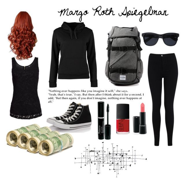 """""""Margo Roth Spiegelman {Paper Towns by: John Green}"""" by mcdoy ❤ liked on Polyvore featuring Miss Selfridge, Converse, Urban Classics, NARS Cosmetics, Flud, Anine Bing, Marvel and WALL"""