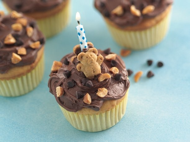 Turn your child's next birthday party into a teddy bear picnic with these easy party cupcakes. What a honey of an idea!