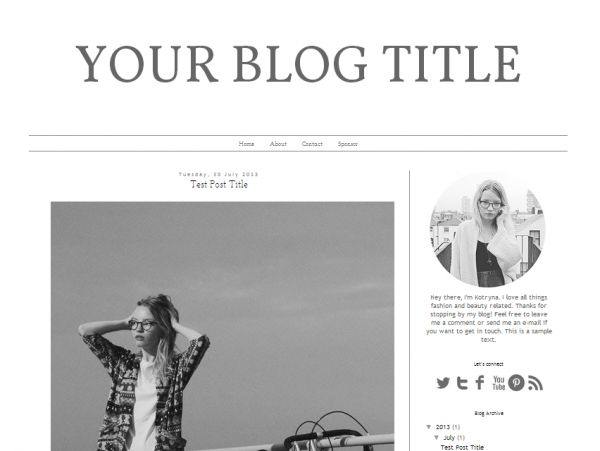 #Download #FREE #Blogger #Template Design: Fashion Notebook - http://luvly.co/items/3741/FREE-Blogger-Premade-Template
