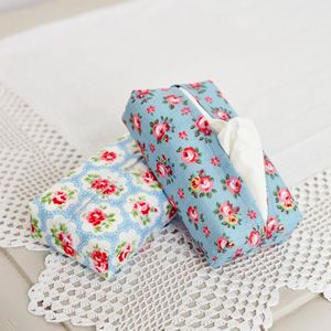 Floral fabric tissue box cover - free sewing pattern - craft - allaboutyou.com