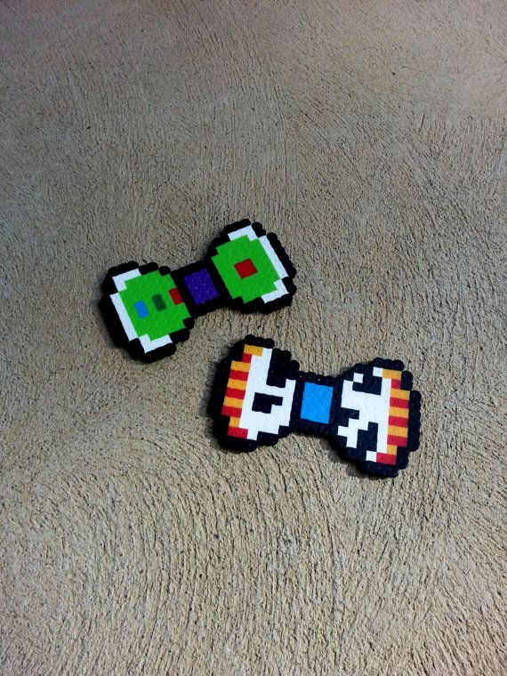 Toy Story Buzz and Woody Hair Bows or Bow Ties perler beads by BurritoPrincess