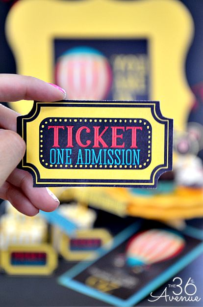 Birthday Party Printables... Love the movie tickets! the36thavenue.com #birthday #kids