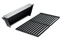 Weber Genesis smoker box with cast iron grill