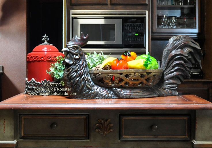 Rooster decorating accessories for tuscan and french - Kitchen rooster decor ...