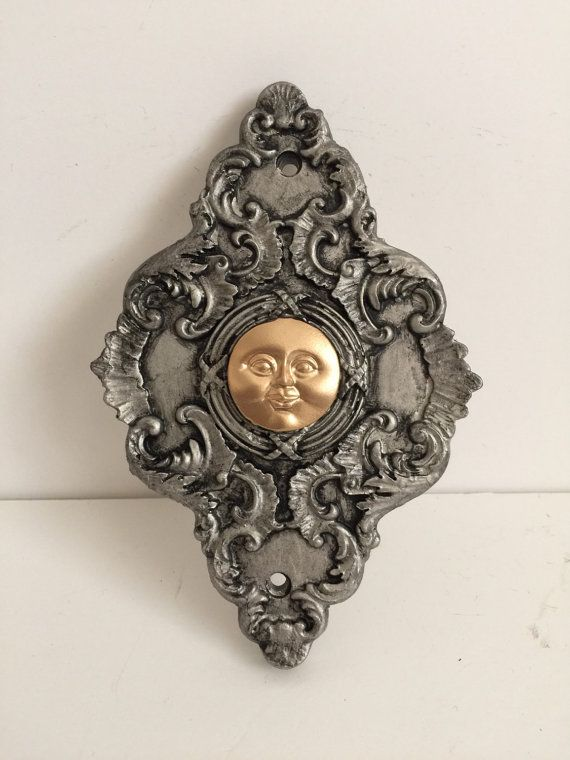 Moon Face Doorbell by Occulence on Etsy