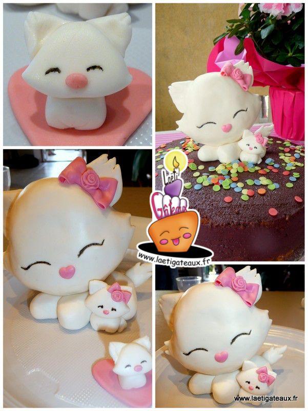 Charming Kitty cake gâteau chocolat