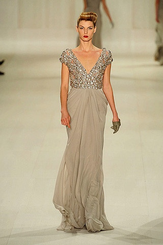 : Fall 2009, 2009 Rtw, Ball Gowns, Dresses, Glamorous Life, Sequins, Blushes, Fashion Runway, Elie Saab Fall