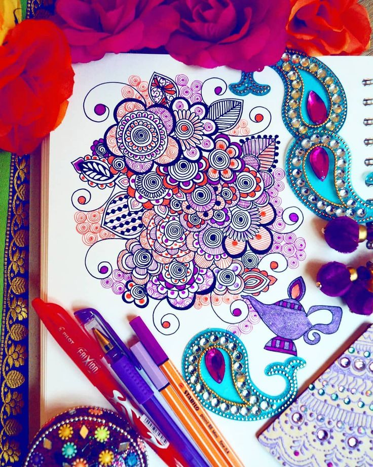 #drawhennaweekly drawing 2 - genie lamp with a burst of flowers coming out . What do you think? I went for purple & orange in the end. I can't wait to see what you guys come up with thanks for the interest. I'll be sharing everyone who uploads.  #designsbynn #art #mandalatatto #mandala #mandaladesign #mandala_sharing #beautiful #stunning #happy #breathtaking #beauty #beautiful_mandalas #heymandalas #doodles #doodle #henna #hennatattoo #hennalovers #hennaart #zendoodle #zentangle #zenart…