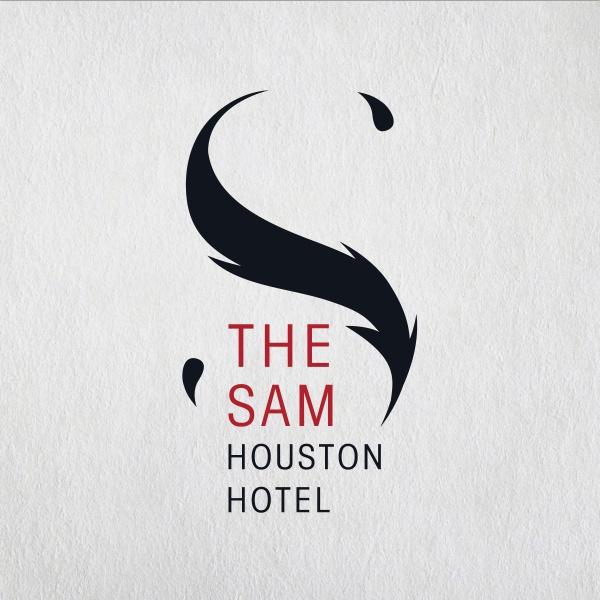 Sam Houston Hotel - logo design, Amy Brooks Schraub #Logo #HotelLogo #DesignLogo