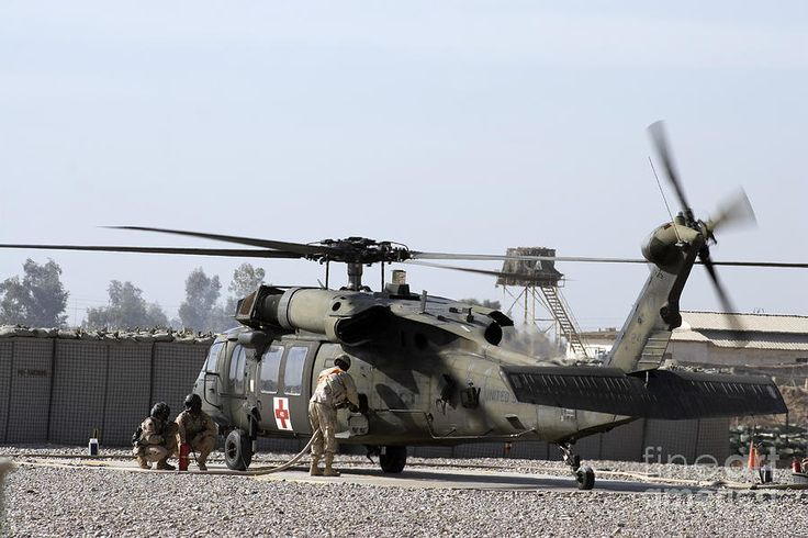 UH-60 Blackhawk refueling.