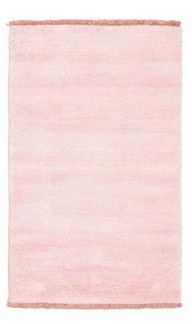 Handloom fringes - Roze tapijt 60x90