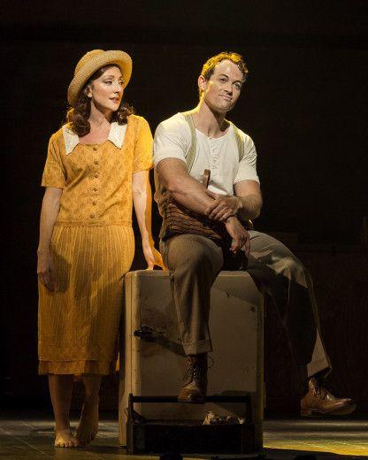 "Carmen Cusack and Patrick Cummings in the Steve Martin/Edie Brickell musical ""Bright Star"""