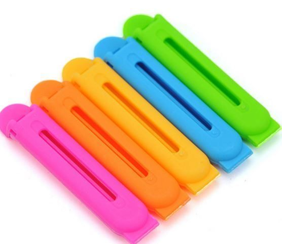 NEW! Resealable Food Clips - pack of 5 - Funky Gift Idea! Multi Colour Pack!