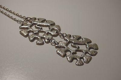 Auran Kultaseppä, vintage modernist sterling silver large necklace, 1967. #Finland