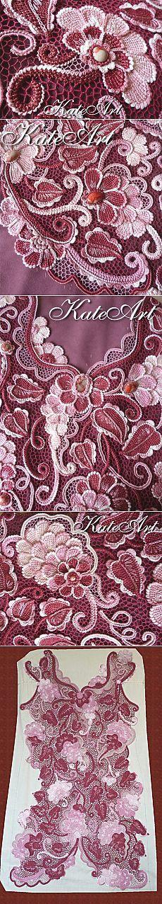 Изумительное платье в технике ирландского кружева Екатерины Поляковой — Рукоделие