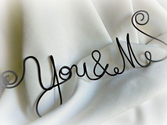 Master slaapkamer Decor draad opknoping Sign u & Me