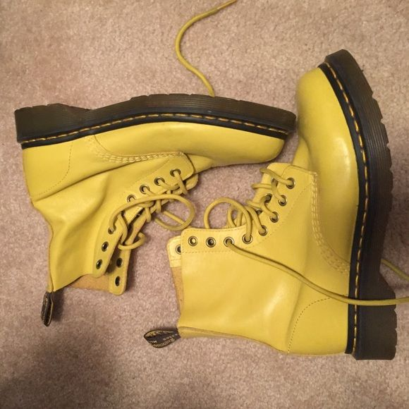 Yellow Doc Martens Incredible shoes!! Great color! Dr. Martens Shoes