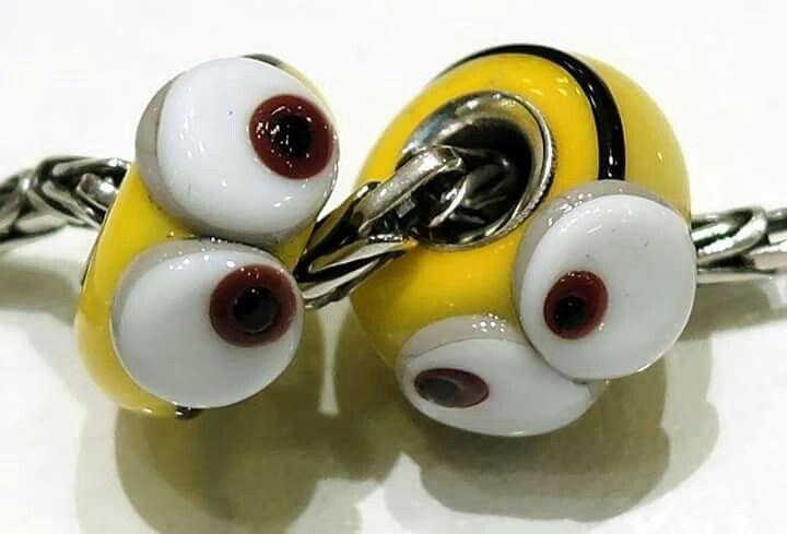 Minios beads di Alessia Fatone in vetro di murano e argento Facebook : Pianeta beads www.gold-jewels-italy.com