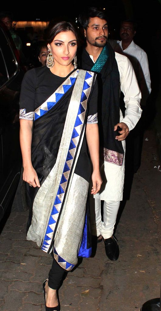 Best Dressed: Soha Ali Khan in Anamika Khanna at Saif Ali Khan and Kareena Kapoor wedding.