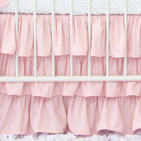 We cant get enough of ruffles! Our 3 tier ruffle crib skirt has a 17 drop, and ruffles on all four sides.  Make sure to check out our 2 and
