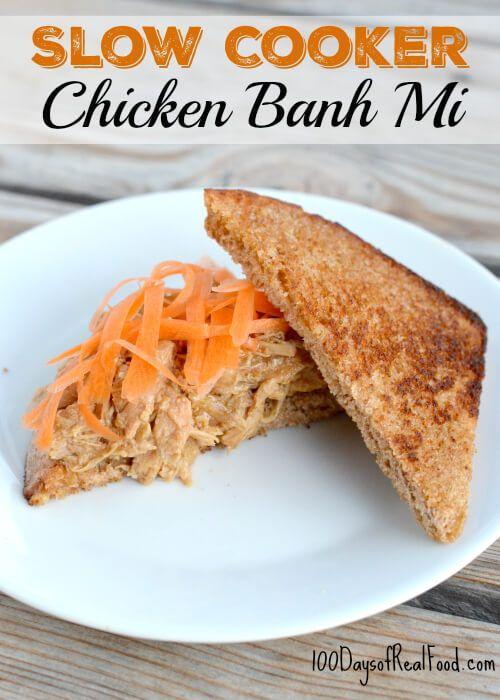 Slow Cooker Chicken Banh Mi via @Leake100Days