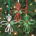 Foam Strip Cross Ornament Craft Kit. Christmas craft ideas for kids.