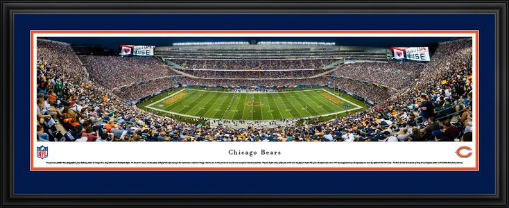 Chicago Bears Panoramic Picture - Soldier Field Stadium Panorama - Deluxe Frame $199.95