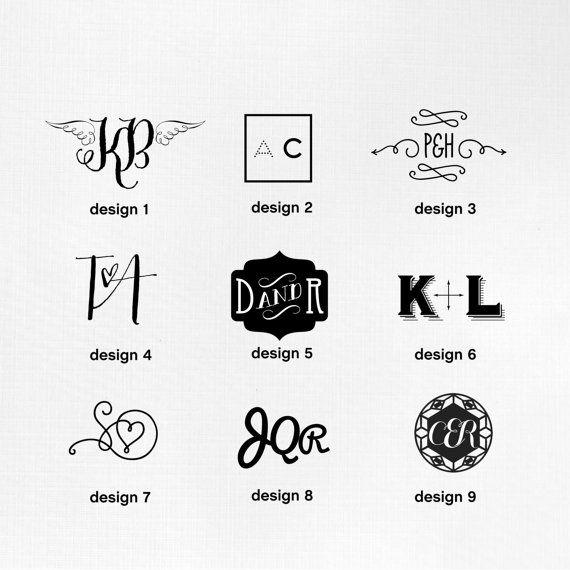 Pre-made Customised Monogram Logo by Fossdesign by fossdesign