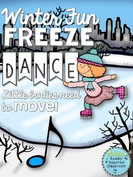 Winter Fun Freeze Dance: Need a fun movement activity to fill a few minutes of music or PE? Classroom teachers, are you looking for a fun brain break to get your kids up and moving?  Try this Freeze Dance! Turn on some fun music, and each time you hit pause show a different picture (print or project onto your board).