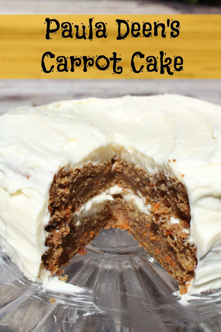 Paula Deen is genius in the kitchen, so I decided to try Paula Deen's Carrot Cake.