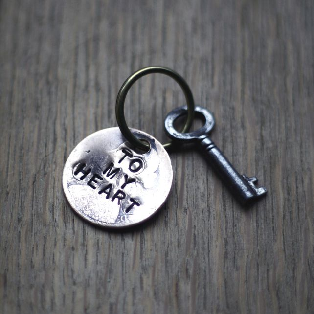 Recycled Old Penny & Key to my Heart & Key Ring £7.00