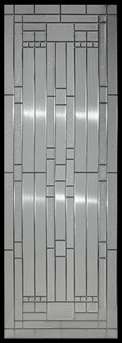 Stained Glass Door Inserts - Waterfall 22x64 Zinc