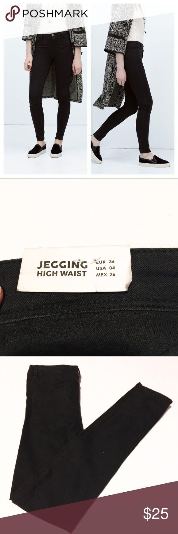 NWT Zara Black High Waist Jegging These are NWT Zara Black High Waist Jegging. In excellent condition. Never worn. Zara Jeans Skinny