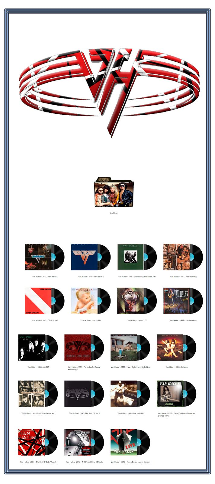 Album Art Icons: Van Halen Discography Icons (ICO & PNG)