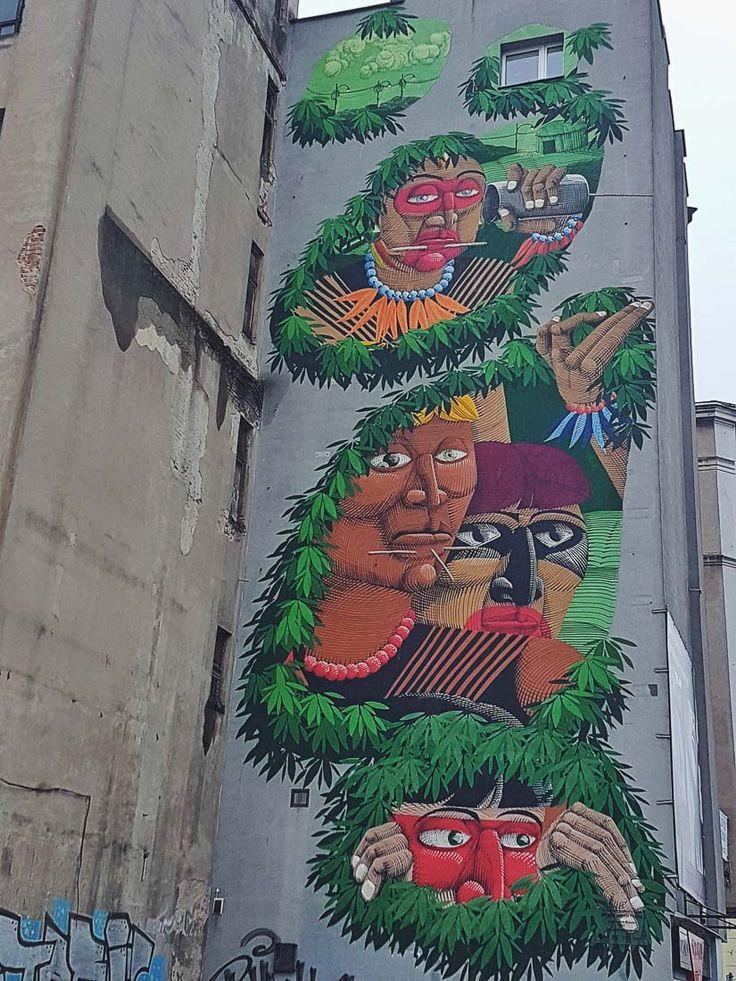 Nunca mural in Lodz, Poland | Street Art in Lodz Tips and map for finding the best street art murals in Lodz, Poland | Street Art in Europe | Poland Urban Art | Best Cities for Street Art | Polski Street Art | Graffiti Art in Lodz