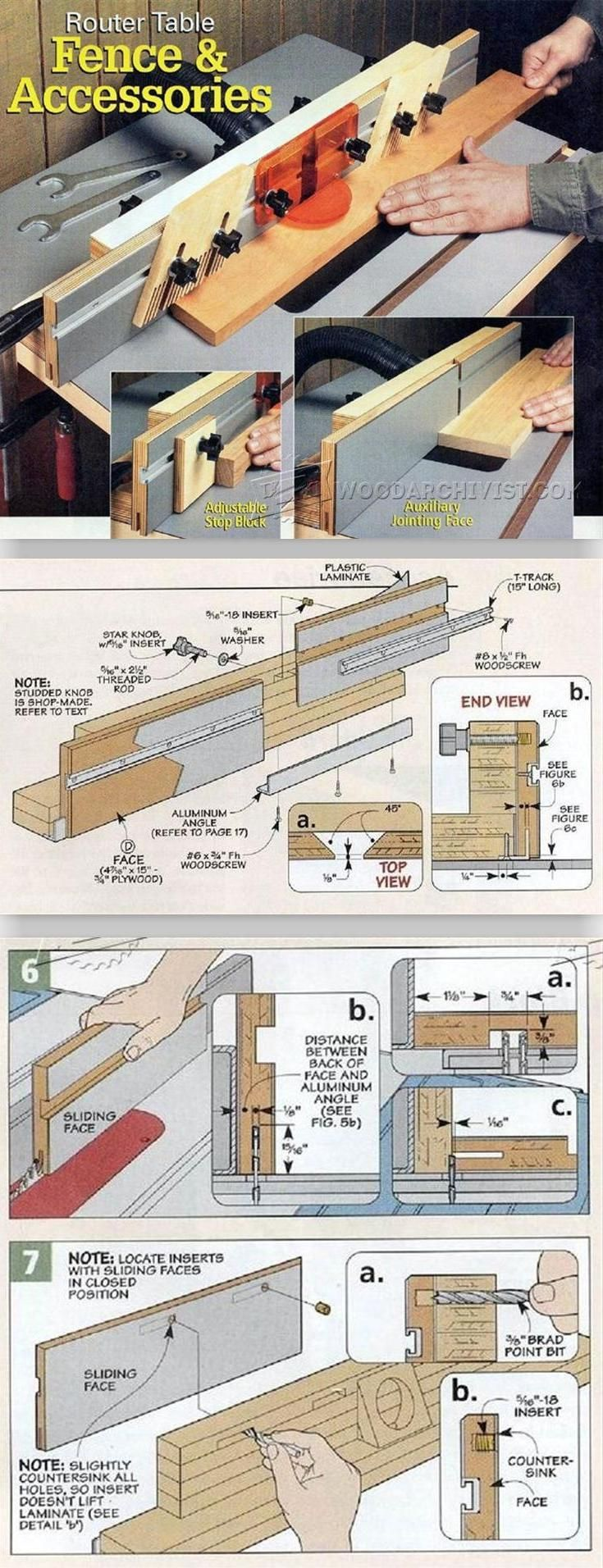 Build Router Table Fence - Router Tips, Jigs and Fixtures | WoodArchivist.com