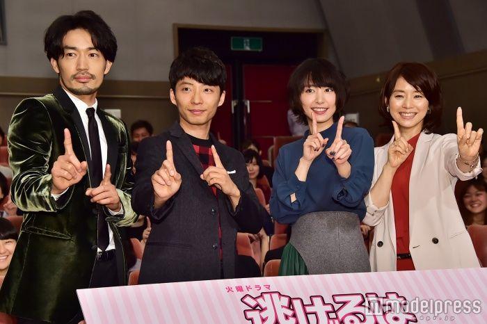 (左から)大谷亮平、星野源、新垣結衣、石田ゆり子(C)モデルプレス (C)モデルプレス