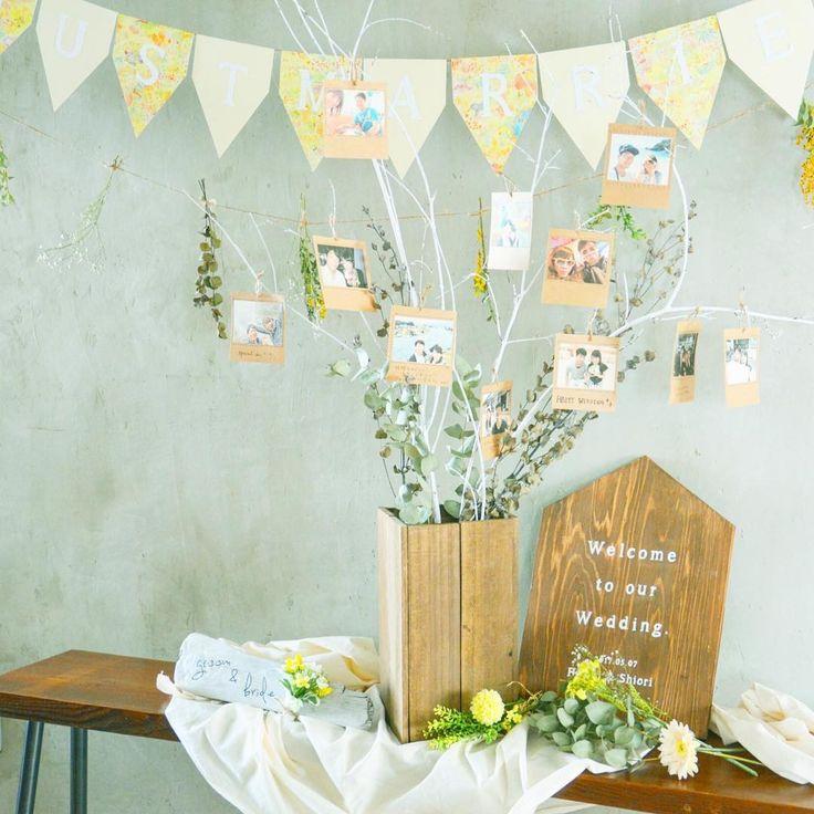 ナチュラル可愛い結婚式のウェルカムスペースデザイン | marry[マリー]