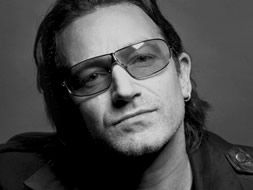 Bono, the lead singer of U2, uses his celebrity to fight for social justice worldwide: to end hunger, poverty and disease, especially in Africa. His nonprofit ONE raises awareness via media, policy and calls to action.
