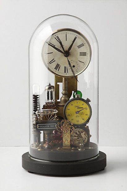 clock coppertronic glass home steampunk  by roger woods