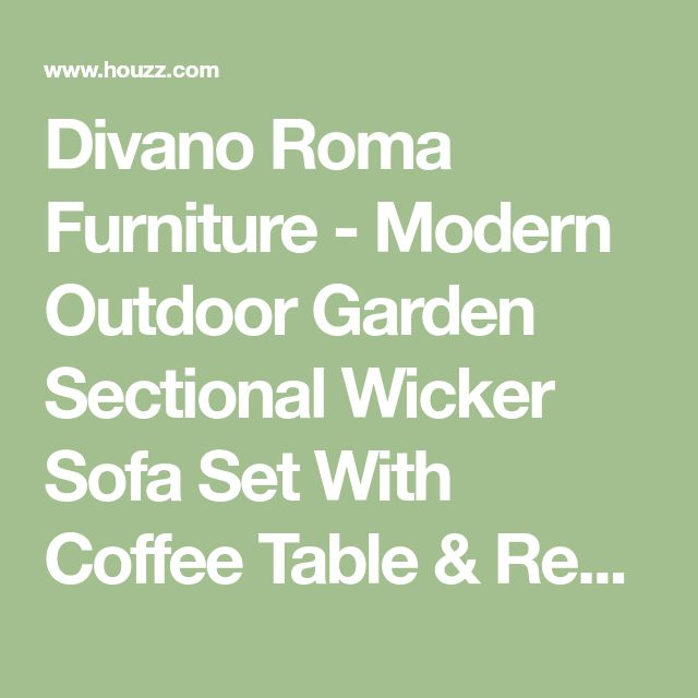 Divano Roma Furniture - Modern Outdoor Garden Sectional Wicker Sofa Set With Coffee Table & Reviews | Houzz
