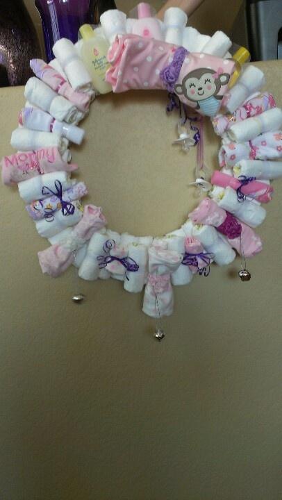 baby shower wreath baby shower ideas pinterest wreaths babies