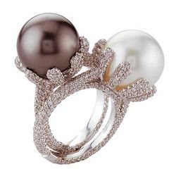 Diamond Band Rings Pearl Diamond Pearl Rings Pearl Jewelry Sapphire